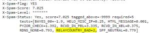 SpamAssassin Erkennungsrate verbessern: Relaycountry_Bad